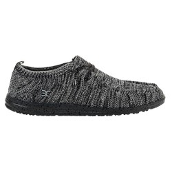 Hey Dude Shoes WALLY KNIT BLACK WHITE