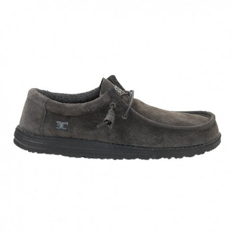 Hey Dude Shoes WALLY SUEDE CHARCOAL